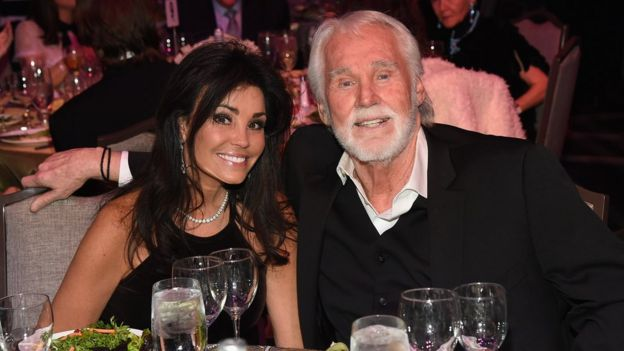 Kenny Rogers with wife Wanda