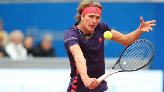 لاعب التنس الألماني ألكسندر زفيريف