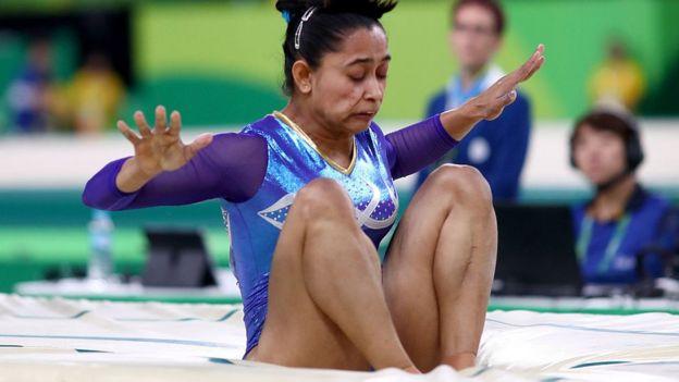 मेरी टांगें देखकर आप बेकाबू हो गएDipa Karmakar Photo: BBC