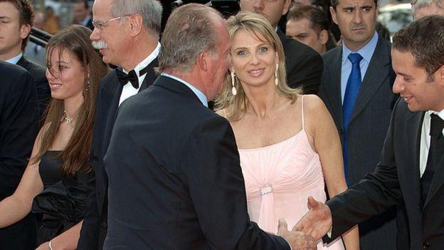 Хуан Карлос со своей подругой в 2006 году