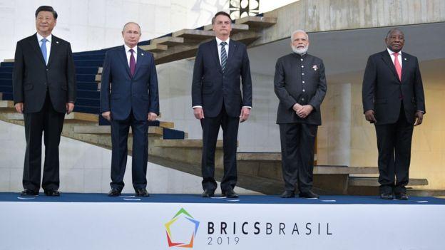 Líderes de Brasil, Rússia, Índia, China e África do Sul na 11ª Cúpula dos Brics