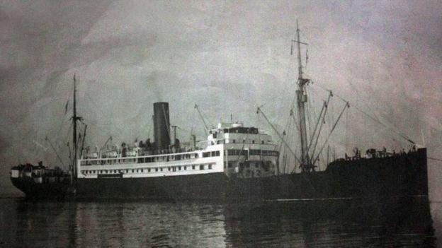 The British navy ship the SS Sagaing
