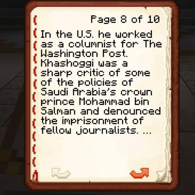 Minecraft Jamal Khashoggi book