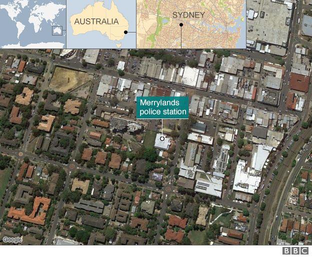Map of Merrylands police station