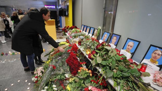 Memorial at Kyiv's Boryspil International Airport