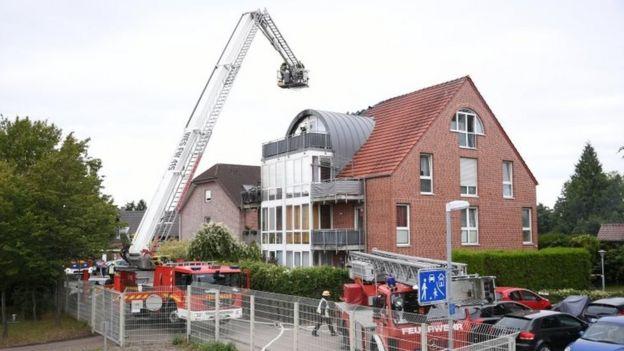 Crash scene in Wesel