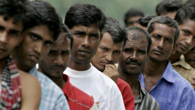 মালয়েশিয়ায় বাংলাদেশী শ্রমিক। ফাইল ছবি
