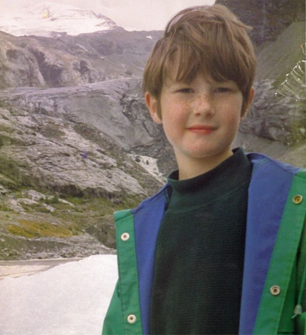 Nicholas Green en los Alpes suizos días antes de ser asesinado en Italia, en septiembre de 1994.