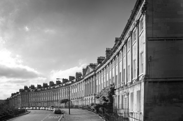 Georgian terrace in Bath, England