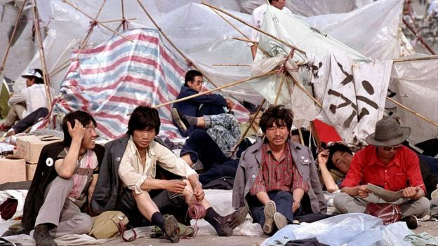 Người biểu tình ở Quảng trường Thiên An Môn 1989
