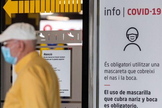 Palma de Mallorca airport sign, 21 Jun 20