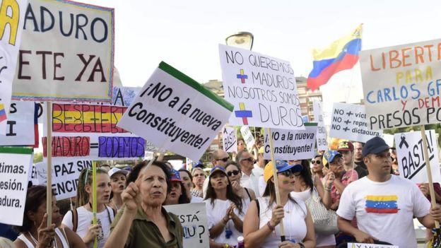 Protesta en Caracas contra la Constituyente