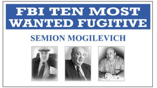 FBI most wanted poster featuring Semion Mogilevich