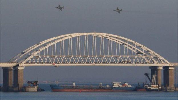 Puente de Kerch une a Rusia continental con Crimea