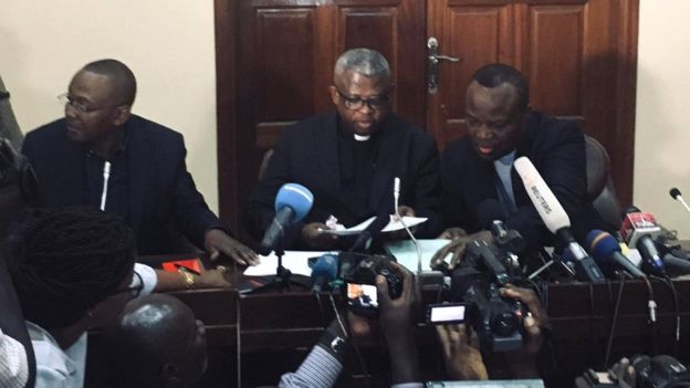 Bishops at a press conference