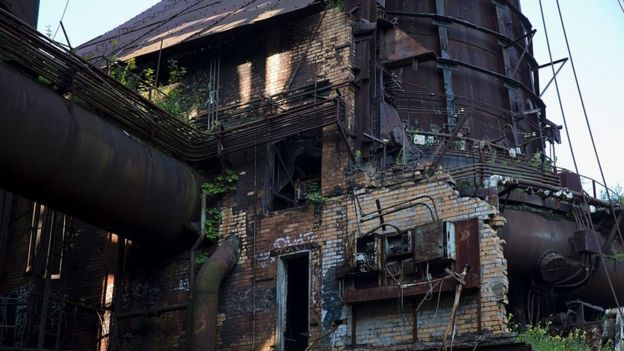 Fábrica abandona na Pensilvânia