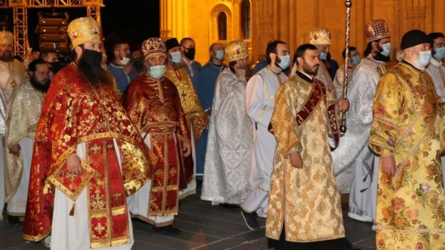 Пасхальное богослужение в Грузии