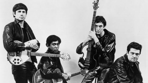 (Left to right) Nasty, Stig, Dirk and Barry of the fictional band, The Rutles
