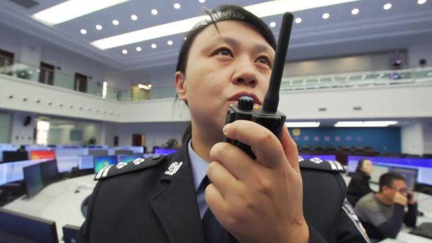 गुयांग में एक पुलिस अधिकारी