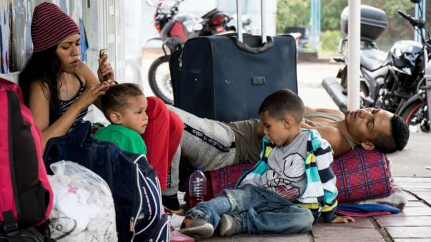Imigrantes venezuelanos na Colômbia