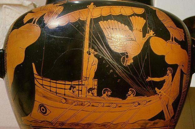 """""""Одиссей, проплывающий мимо серен"""" - 480 г. до н.э."""