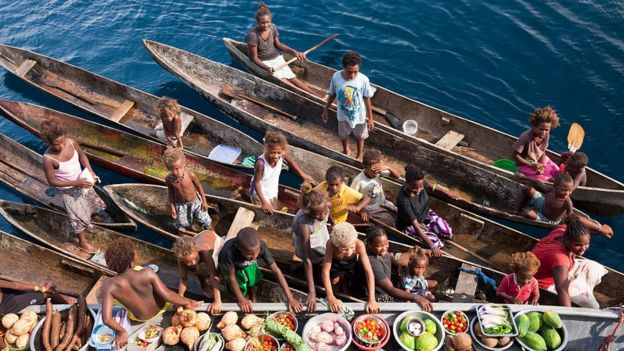 Boat Market, Florida Islands, Solomon Islands.