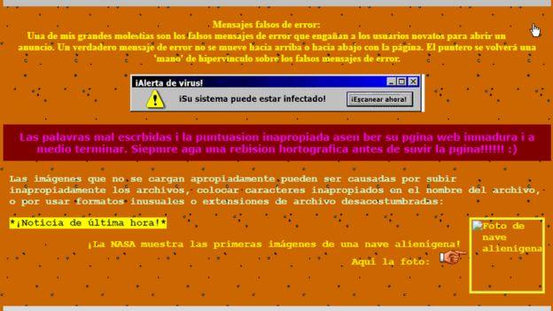 La peor página web del mundo