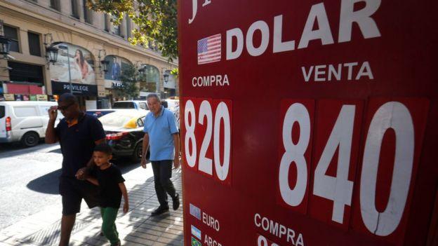 Tipo de cambio en Santiago, Chile