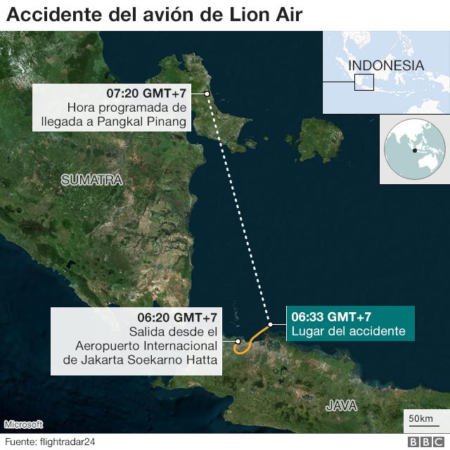 5fd9ec226d Un avión de Lion Air con 189 personas a bordo se estrella en Indonesia  momentos después del despegue