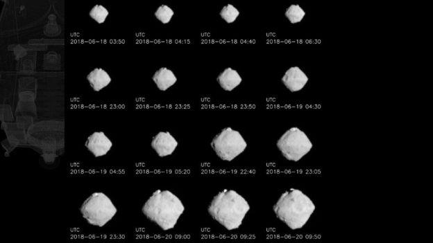 imagem do asteroide