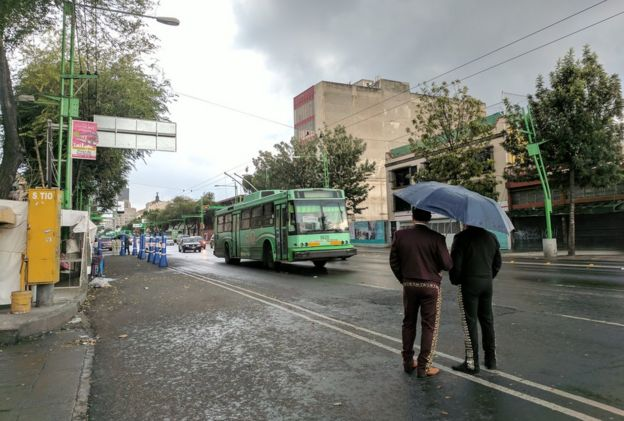 Día lluvioso en la Ciudad de México.