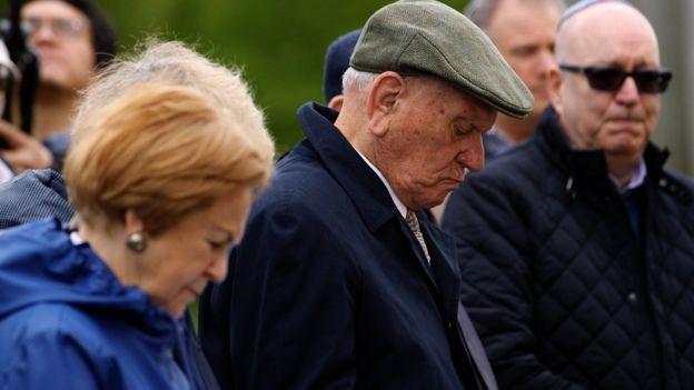 Survivors at memorial service