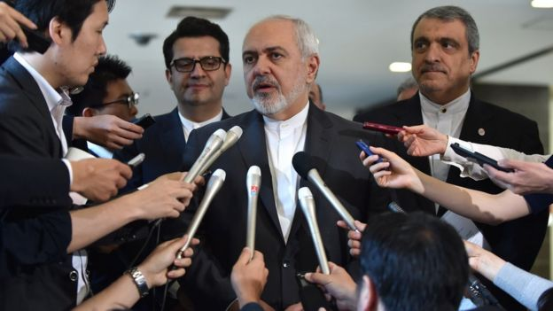 El ministro de Exteriores de Irán, Mohammad Javad Zari.