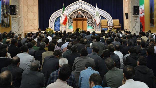 دیدار حسن روحانی با کارکنان وزارت اطلاعات در سال ۱۳۹۴