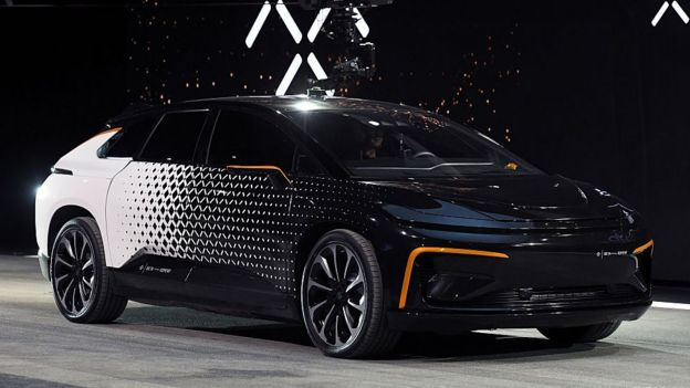 Faraday Future ff91 электромобиль