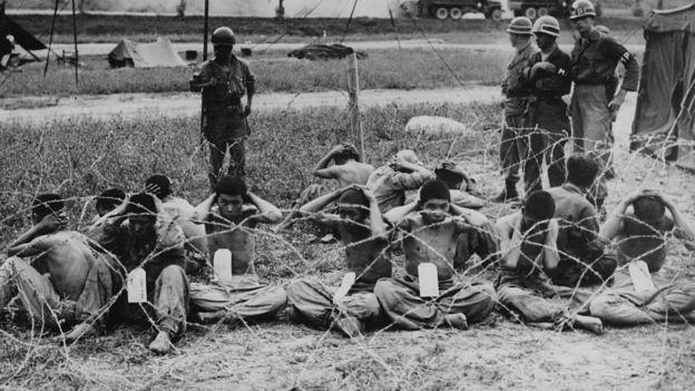 Prisioneros de guerra norcoreanos en Corea del Sur.