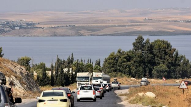 The Euphrates near Kobane. Russian and Syrian forces will enter a long border area