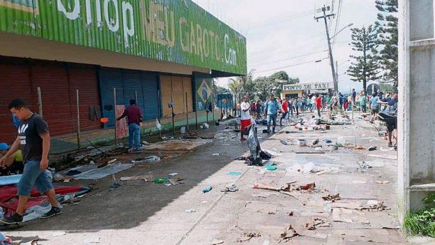 Área onde conflito aconteceu