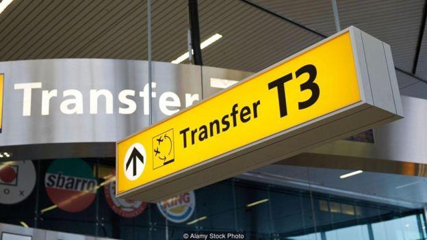 Terminal para conexão em aeroporto