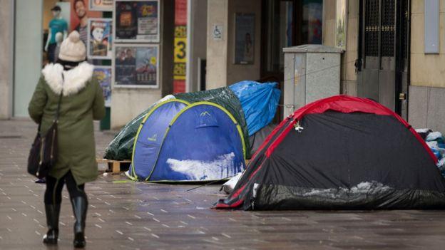 Los sin hogar en Inglaterra