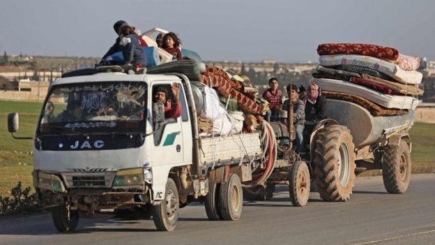 В последние недели жители Идлиба массово покидали провинцию