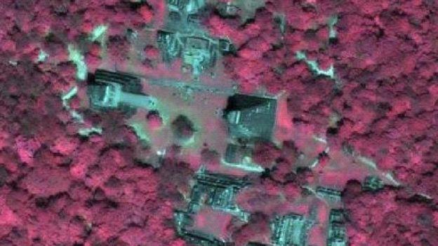 Imagem de satélite mostra antigos monumentos maias