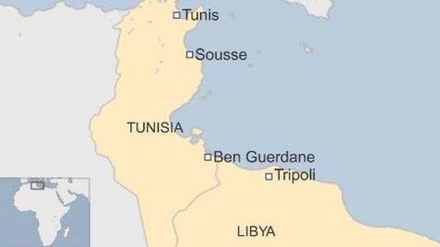 Tunisia Kills Militants Near Libya Border BBC News - Map of tunisia world