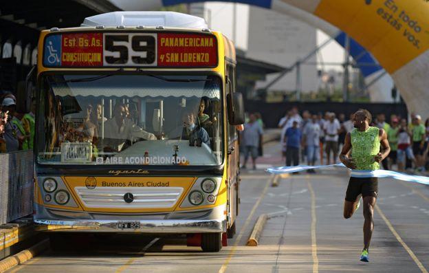 Usain Bolt en Buenos Aires