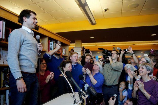 Durante la campaña, Buttigieg ha insitido en que los demócratas hagan más referencia a los valores que animan sus políticas.