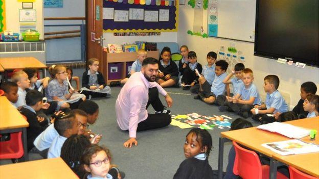 Pupils at St Matthew's Primary School