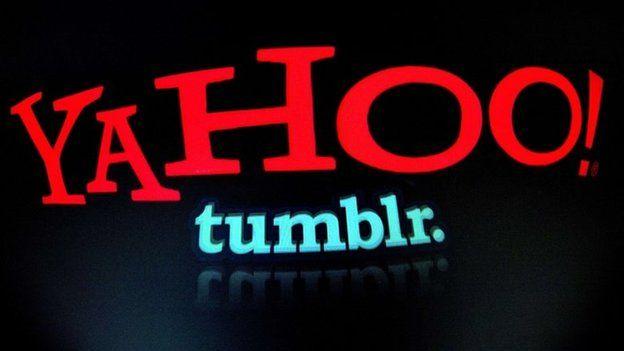 Yahoo and Tumblr logos