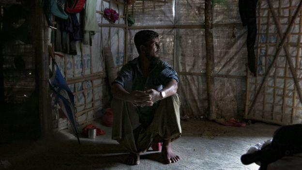 Abu Bakar di pengungsian di Cox Bazaar, Bangladesh