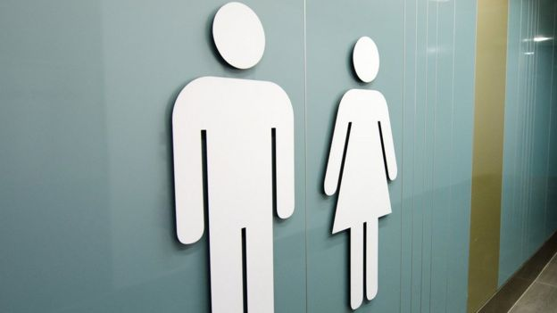 Gender symbols on public toilets