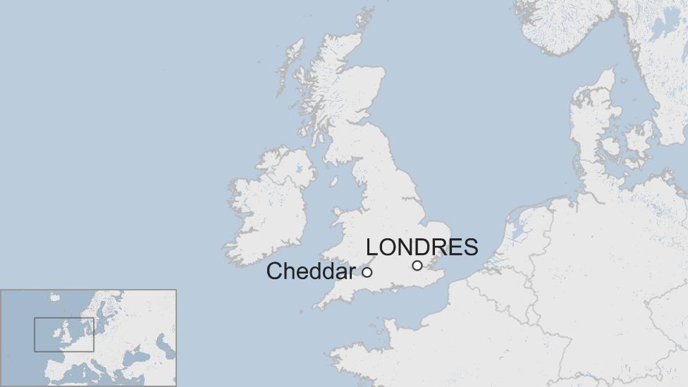 Mapa Cheddar